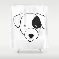 jack russell Shower Curtains featuring Jack Russell by anabelledubois