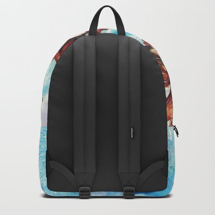 Brown flowers Backpack
