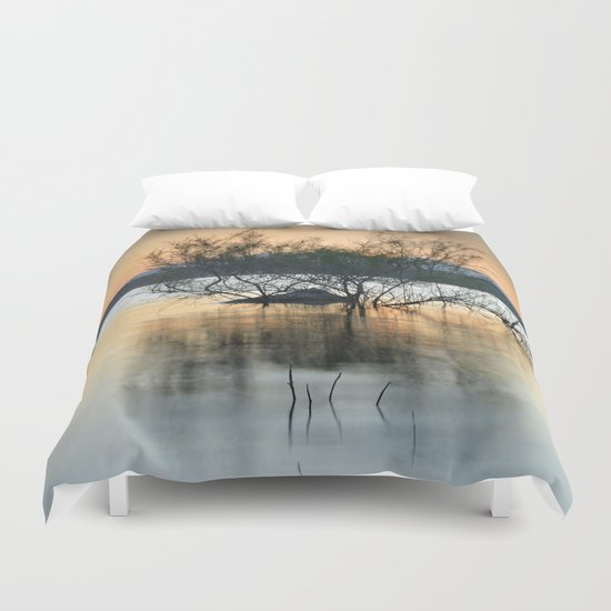 """Peace at the lake"". Dream sunset. Duvet Cover"