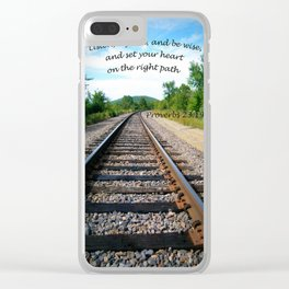 Proverbs 23:19 Clear iPhone Case
