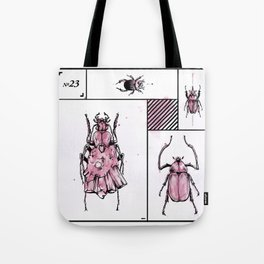 Bugs+Stones (Red) Tote Bag
