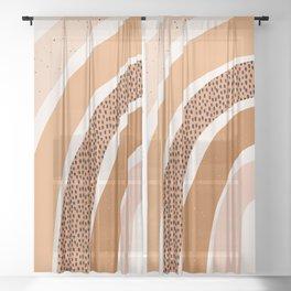 Earth Color Rainbow Sheer Curtain