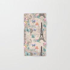 Paris - my love - France Nostalgy- pink French Vintage Hand & Bath Towel