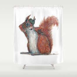 Squirrels' hat Shower Curtain