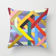 Abstract #225 Corners, Intersections & Dead Ends Throw Pillow