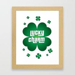 Lucky Charm Shamrock Framed Art Print
