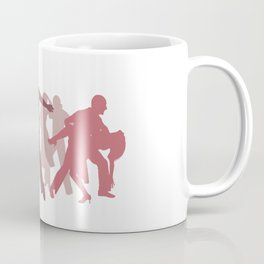 Latin Dancers Illustration Coffee Mug