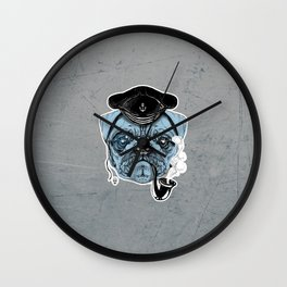 Sailor Pug Wall Clock