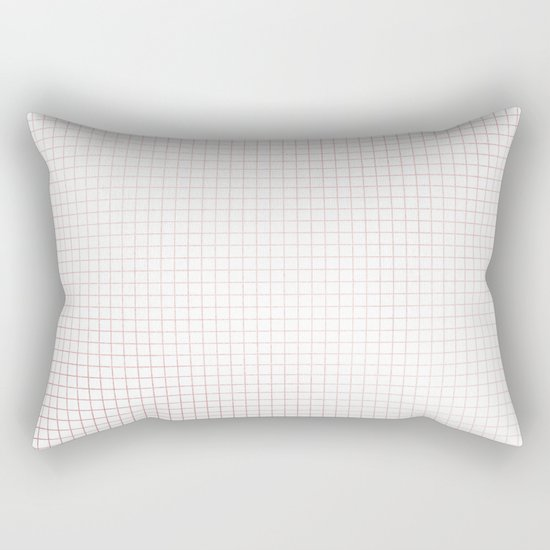 Simply Grid Lines in Rose Gold Sunset Rectangular Pillow