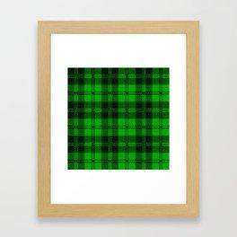 Green Tartan Wool Material Framed Art Print