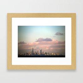 City over Sea Framed Art Print