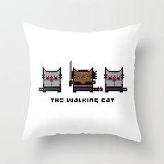 The Walking Cat - Meowchonne Throw Pillow