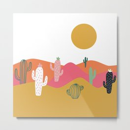 Bright Desert Day Metal Print