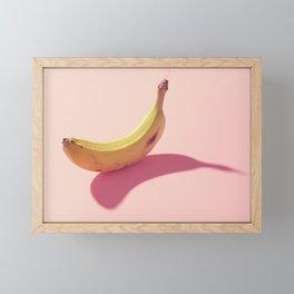 #02_banana on pink Framed Mini Art Print