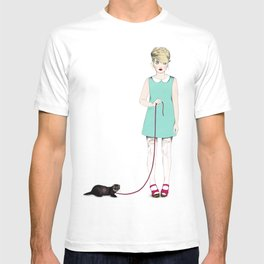 The girl with the ferret T-shirt