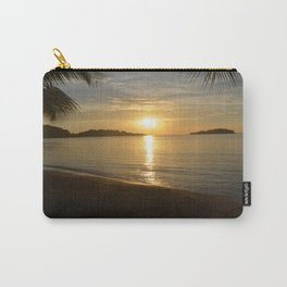 Sunset by the Caribbean beach 001 Carry-All Pouch