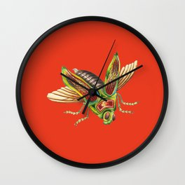 Red Bug Wall Art Public Domain Wall Clock