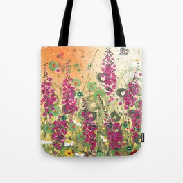 Fireweed in Melon Tote Bag