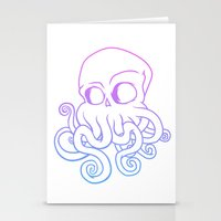 cthulu Stationery Cards featuring Call me Cthulu  by KickPunch