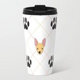 Chihuahua Paw Print Pattern Travel Mug