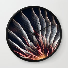 Swirl Lights Wall Clock