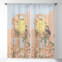 Soul full of sunshine Sheer Curtain