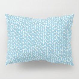 Hand Knit Sky Blue Pillow Sham