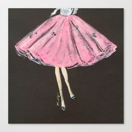 Jolie Pink Fashion Illustration Canvas Print