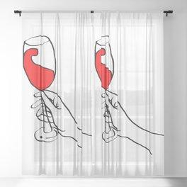 Cheers! Sheer Curtain