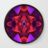 rave Wall Clocks featuring Rave by Billy Harris