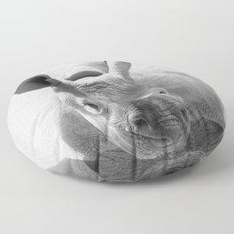 Baby Rhino - Black & White Floor Pillow
