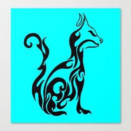 Cat blue Canvas Print