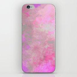 Pink Grey Watercolor iPhone Skin