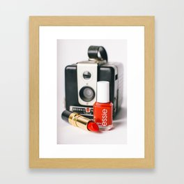 Class Comes in Red Framed Art Print