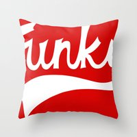 funky Throw Pillows featuring Funky by DeMoose_Art