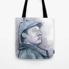 Data as Sherlock Holmes Watercolor TNG Portrait Tote Bag