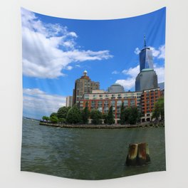 Manhattan And Hudson River Wall Tapestry
