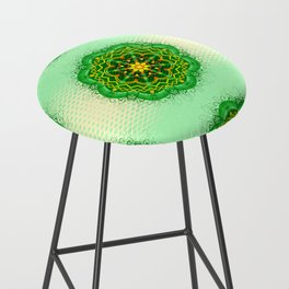 Mandala Zen Greenery Seamless Pattern Design Bar Stool