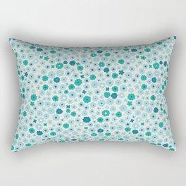 Blue tiny flowers Rectangular Pillow