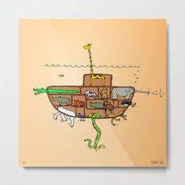 Noah's Ark Submarine, Wall Art, Nursery Decor, Wall Art for Boys Room Metal Print