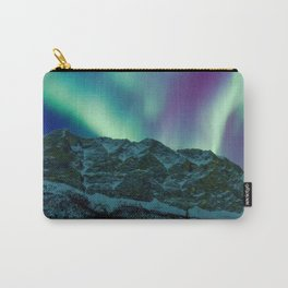 Aurora Borealis Over Mountains Carry-All Pouch