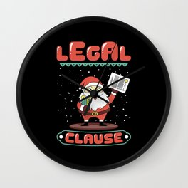 Legal Clause Funny Attorney Christmas Wall Clock