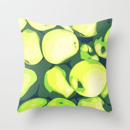 Lots of Green Apples Throw Pillow