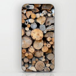 Perfect Woodpile iPhone Skin