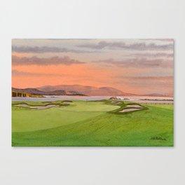 Pebble Beach Golf Course Hole 17 Canvas Print