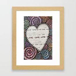 All we need is LOVE! Framed Art Print