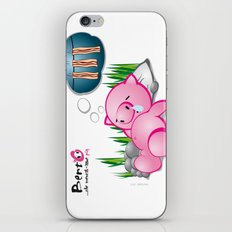 Berto: The Mental-issue pig taking a nap iPhone & iPod Skin