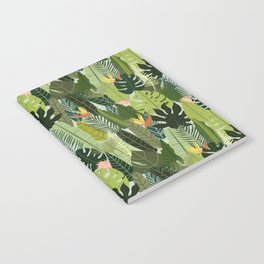 Green On Pattern Notebook