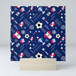 Love Football Background Mini Art Print