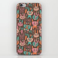 bunnies iPhone & iPod Skins featuring Bunnies by Olya Yang